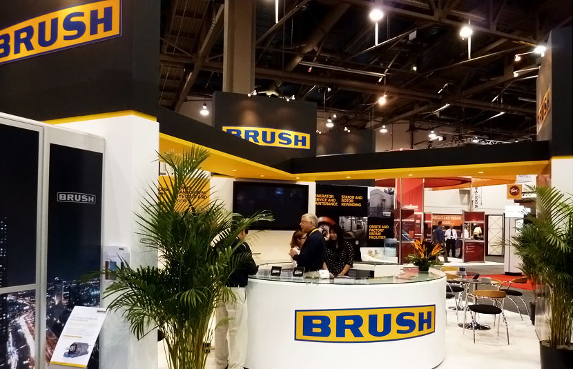 Exhibition design for Brush at POWERGEN 2011